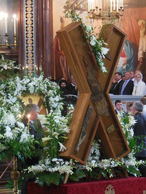 Крест Андрея Первозванного установлен в храме Христа Спасителя