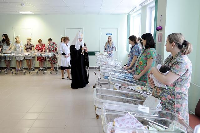 Патриарх пожелал будущим мамам счастливого разрешения от бремени, рождения здоровых и счастливых младенцев