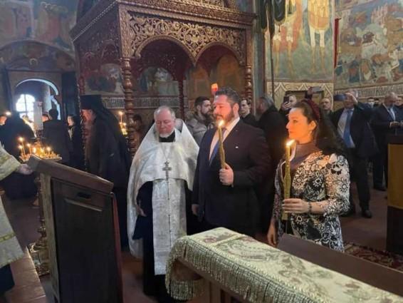 24 января сего года в Родовом гнезде Романовых в г. Костроме состоялось обручение Цесаревича Георгия Михайловича и его невесты Г-жи Виктории Романовны Беттарини