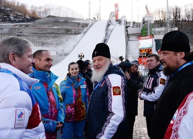 Патриарх посетил спортивные объекты в Сочи