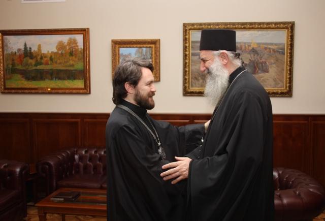 В ОВЦС состоялась встреча руководителей внешних церковных связей Русской и Грузинской Православных церквей