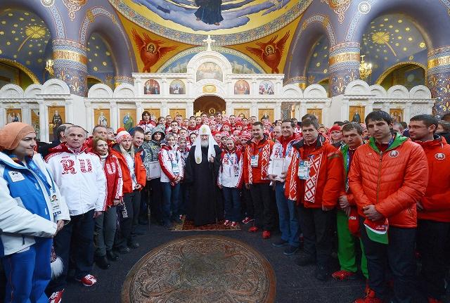 Святейший Патриарх совершил молебен в храме Нерукотворного Образа Спасителя в Сочи