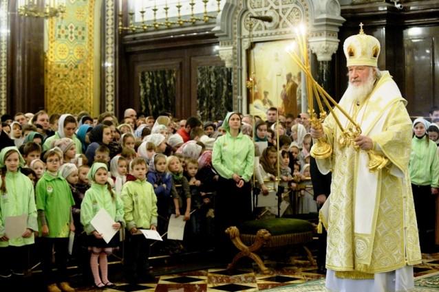 Патриаршее богослужение для детей