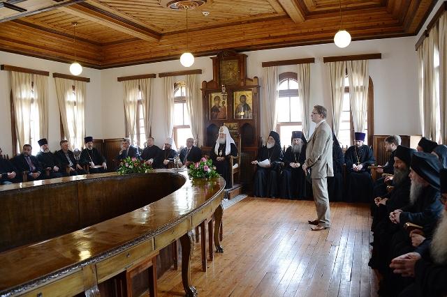 Предстоятель Русской Православной Церкви встретился с членами Эпистасии Святой Горы Афон