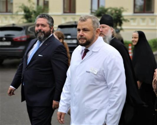 Цесаревич Георгий Михайлович  присутствовал на освящении храма в Больнице им. Святителя Алексия