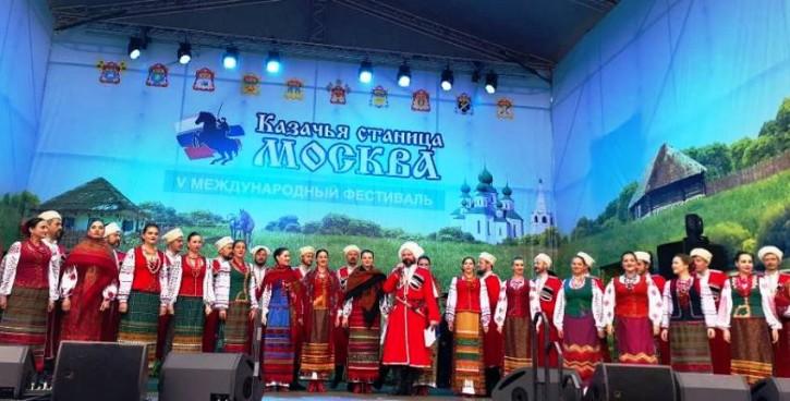 В Коломенском устроили казачью станицу