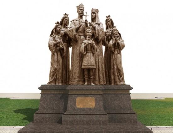 Завершен первый этап работ над памятником Николаю II и его семье в Дивееве