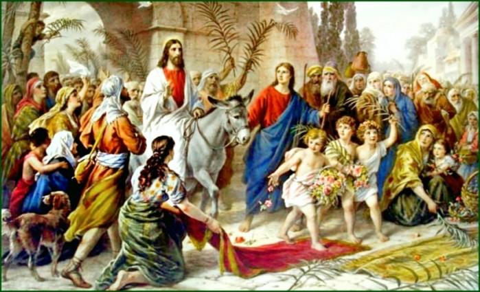 В этот день Спаситель вошел в Иерусалим