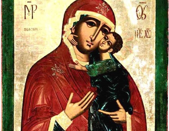 Икону Божией Матери «Толгская» на один день доставят из ГИМ в Высоко-Петровскую обитель