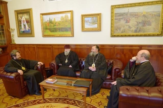 Дружественная встреча в Отделе внешних церковных связей