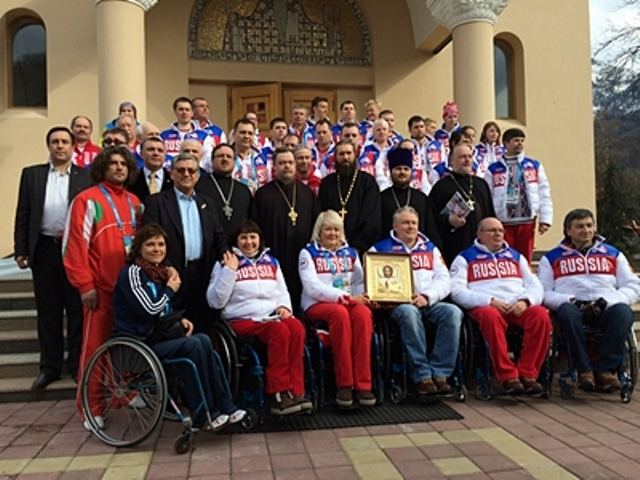 В Сочи совершен молебен для паралимпийцев