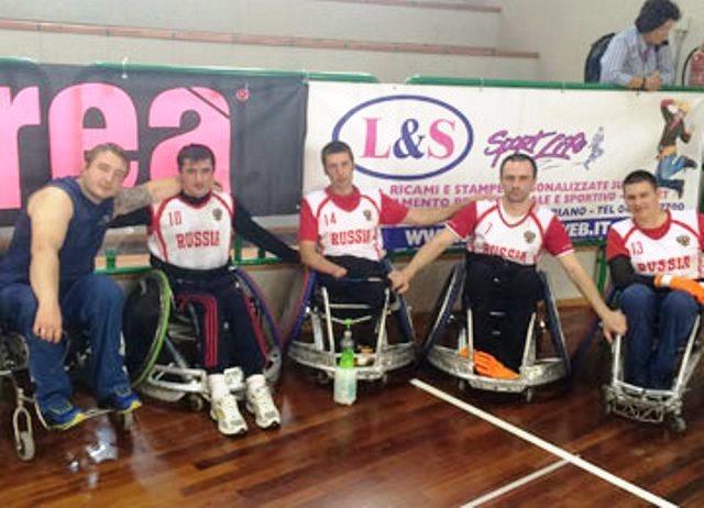 Российские регбисты на колясках вошли в тройку сильнейших