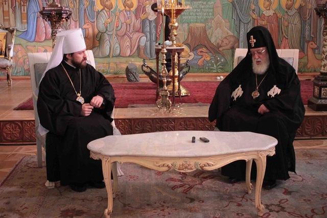 Святейший и Блаженнейший Католикос-Патриарх Илия II: «Да хранит Бог Вас и страну Российскую».
