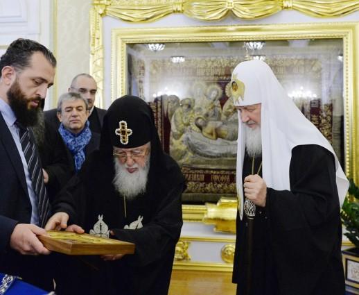 Святейший Патриарх Кирилл встретился со Святейшим и Блаженнейшим Католикосом-Патриархом всея Грузии Илией II