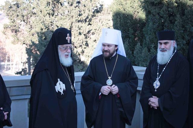 Предстоятель Грузинской Православной Церкви встретился с митрополитом Волоколамским Иларионом