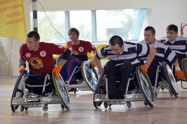 В Москве состоялся турнир по регби на колясках