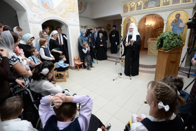 Патриарх Кирилл в Праздник Рождества Христова посетил Свято-Софийский детский дом