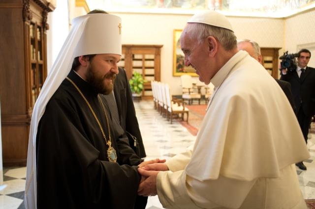 Состоялась встреча митрополит Илариона и главы Римско-католической церкви