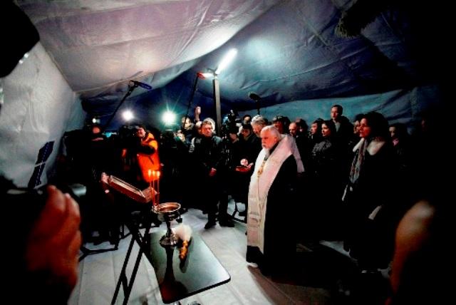 Церковь запустила пункт обогрева для бездомных