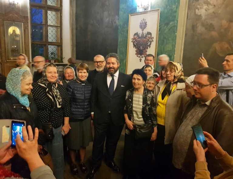 Цесаревич встретился с отцом Никоном (Левачев-Белавенец)